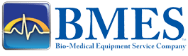 BMES logo. Biomedical repair. Medical eqipment
